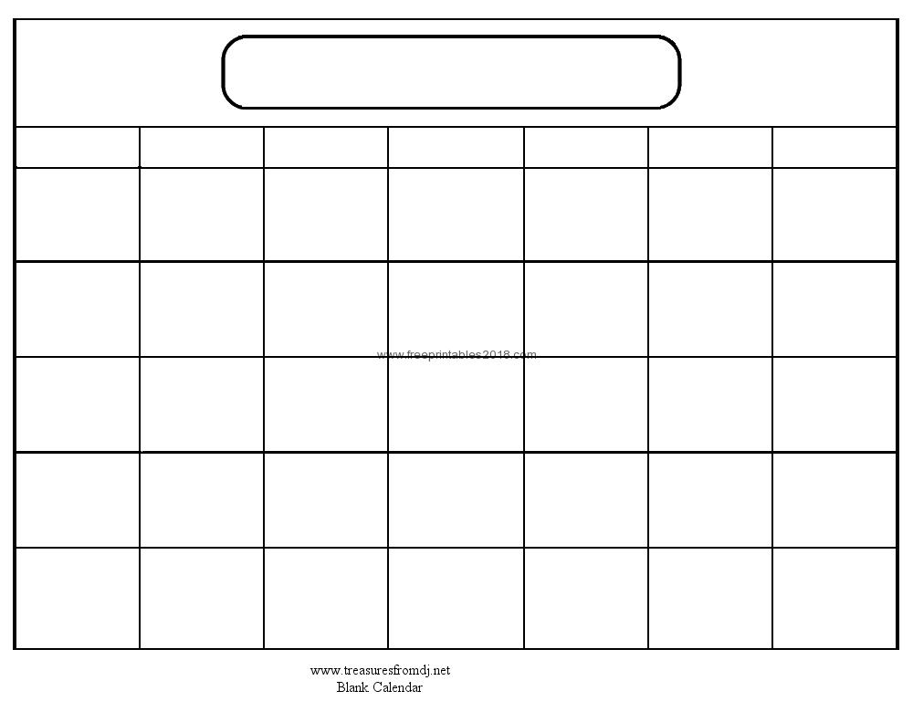 32 Helpful Blank Monthly Calendars | Kittybabylove