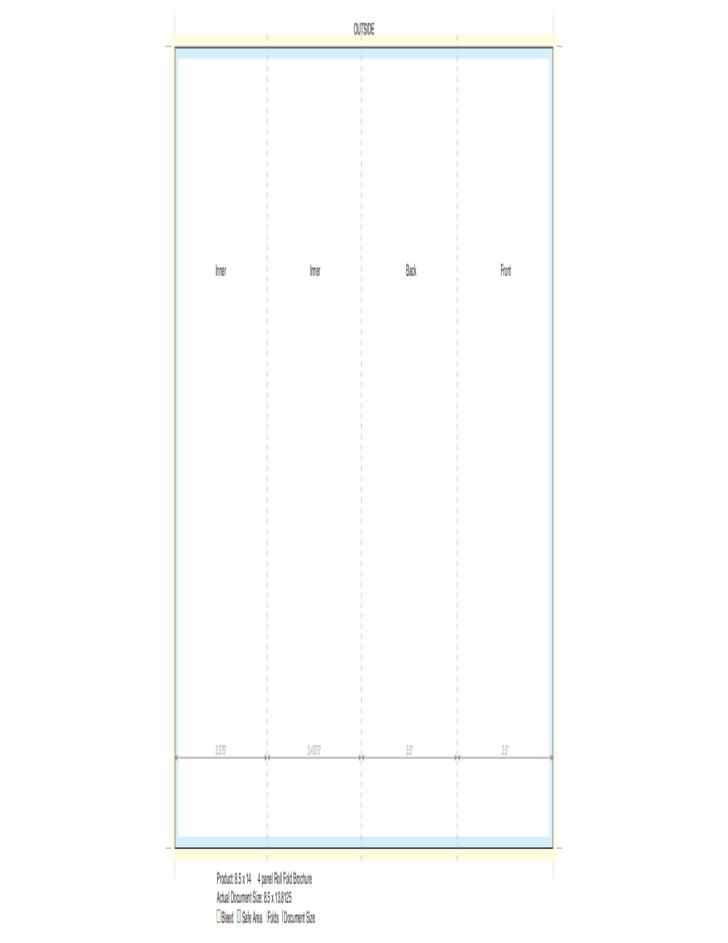 4 Panel Brochure Template (14 * 8.5) Free Download