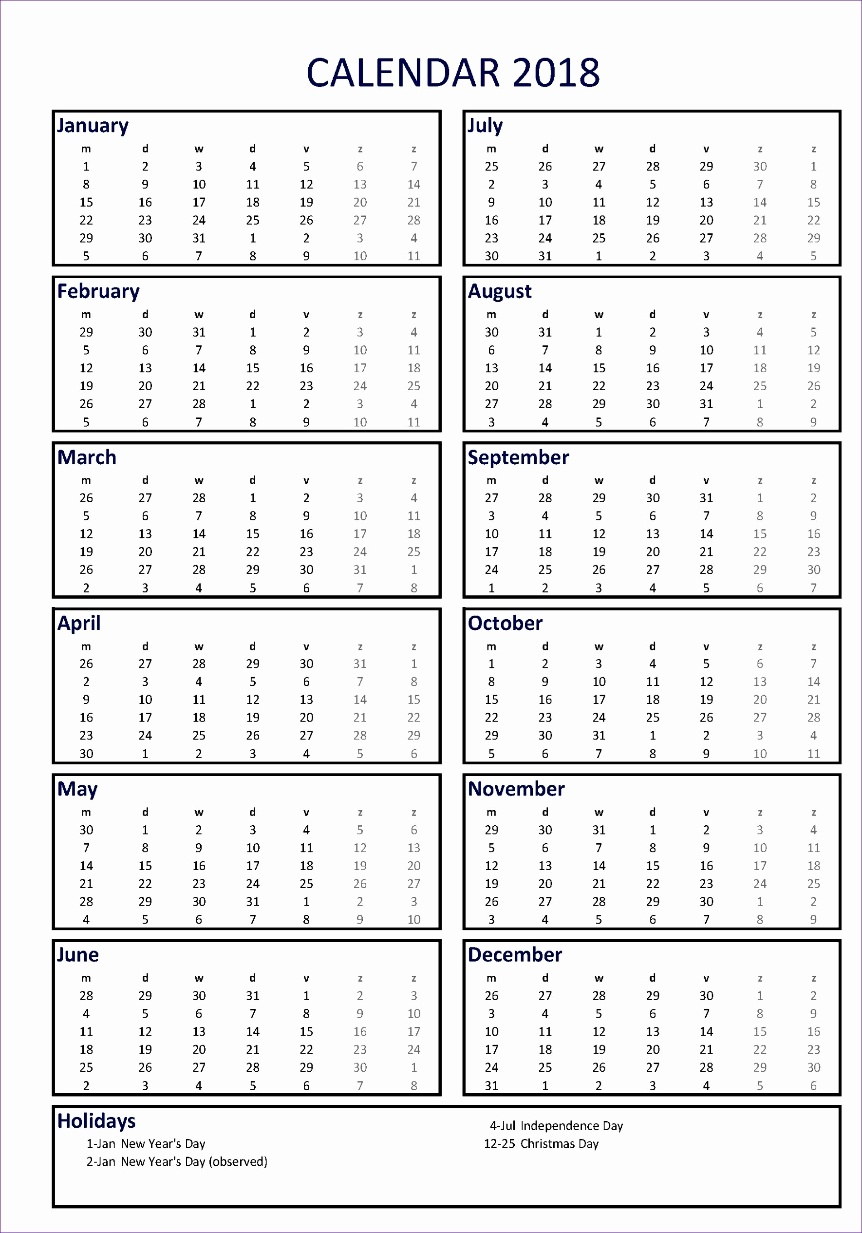6 Annual Leave Planner Excel Template - Excel Templates - Excel Templates