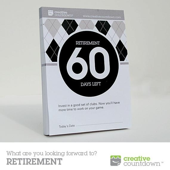 60-Day Countdown To Retirement Tear-Off Calendar