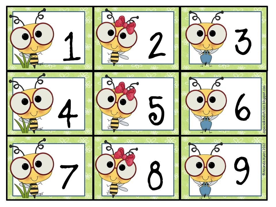 A Special Kind Of Class: Bee Calendar Numbers Freebie