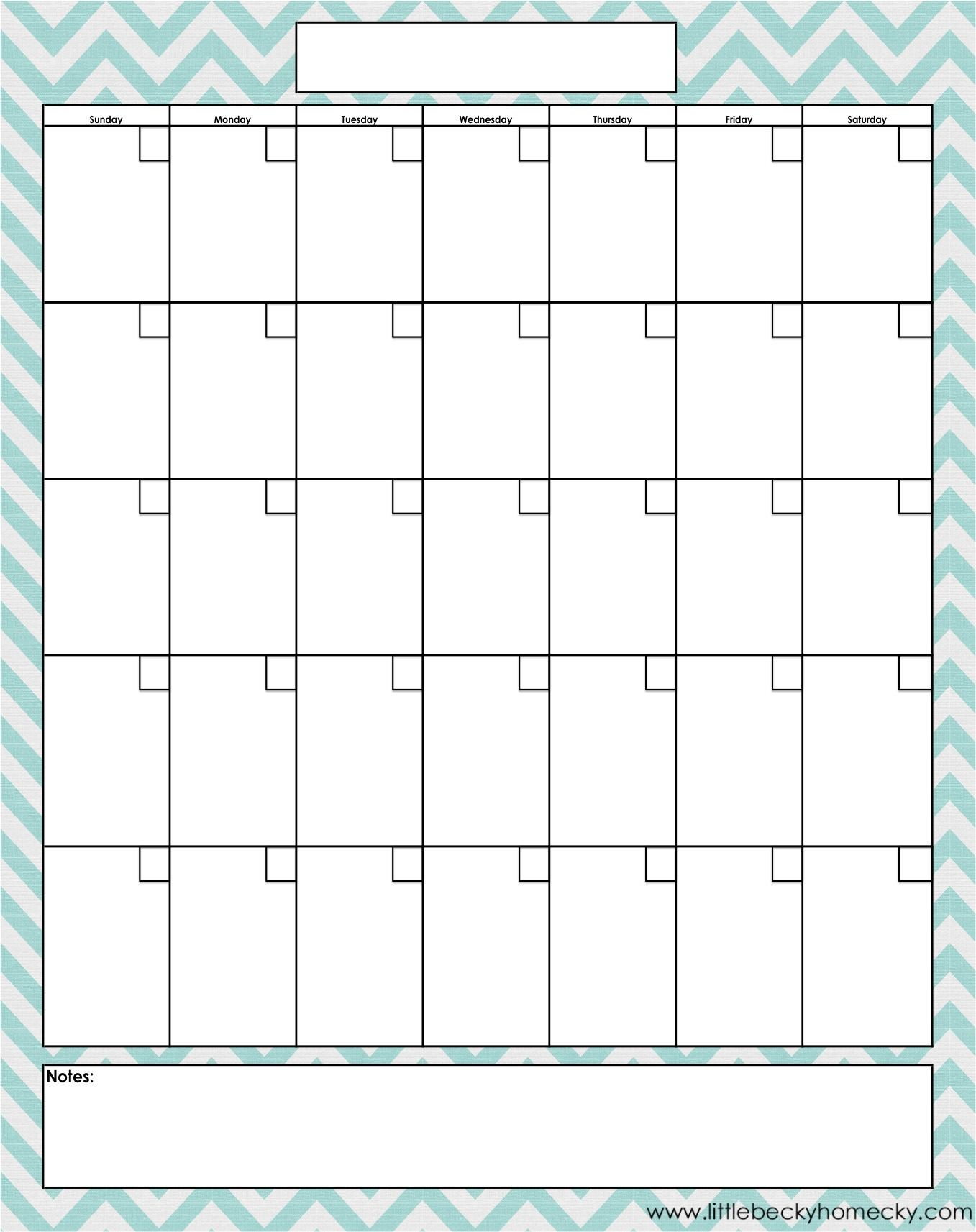 Blank Monthly Calendar Printable Free | 2020Calendartemplates