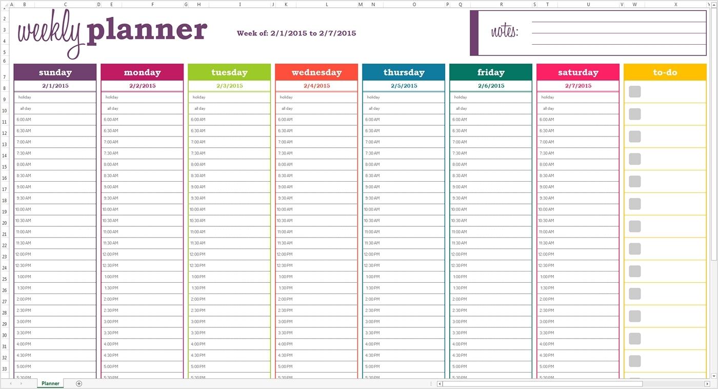 Blank Weekly Calendar 15 Minute Increments | Calendar Template Printable