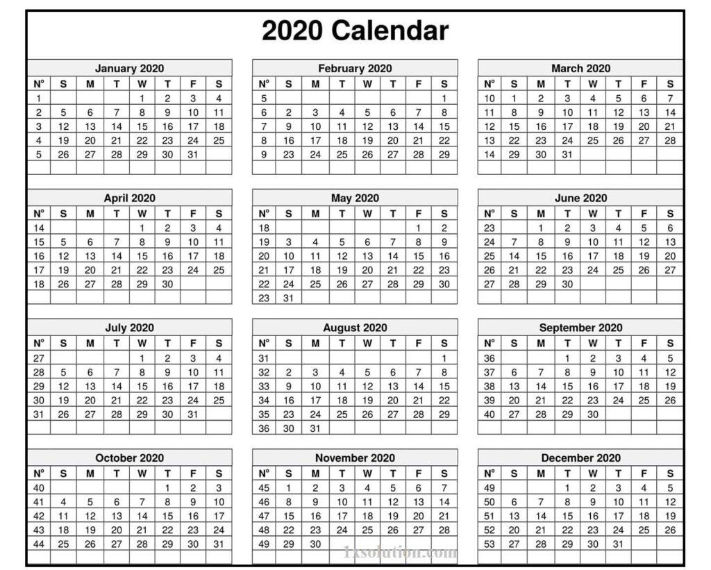Calendar 2020 Excel Sheet - Note Your Employee Attendance | | Calendar