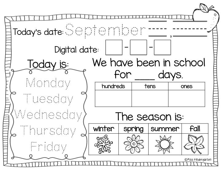 Calendar Time {Using Interactive Calendar Notebooks} | Calendar Math, Kindergarten Calendar