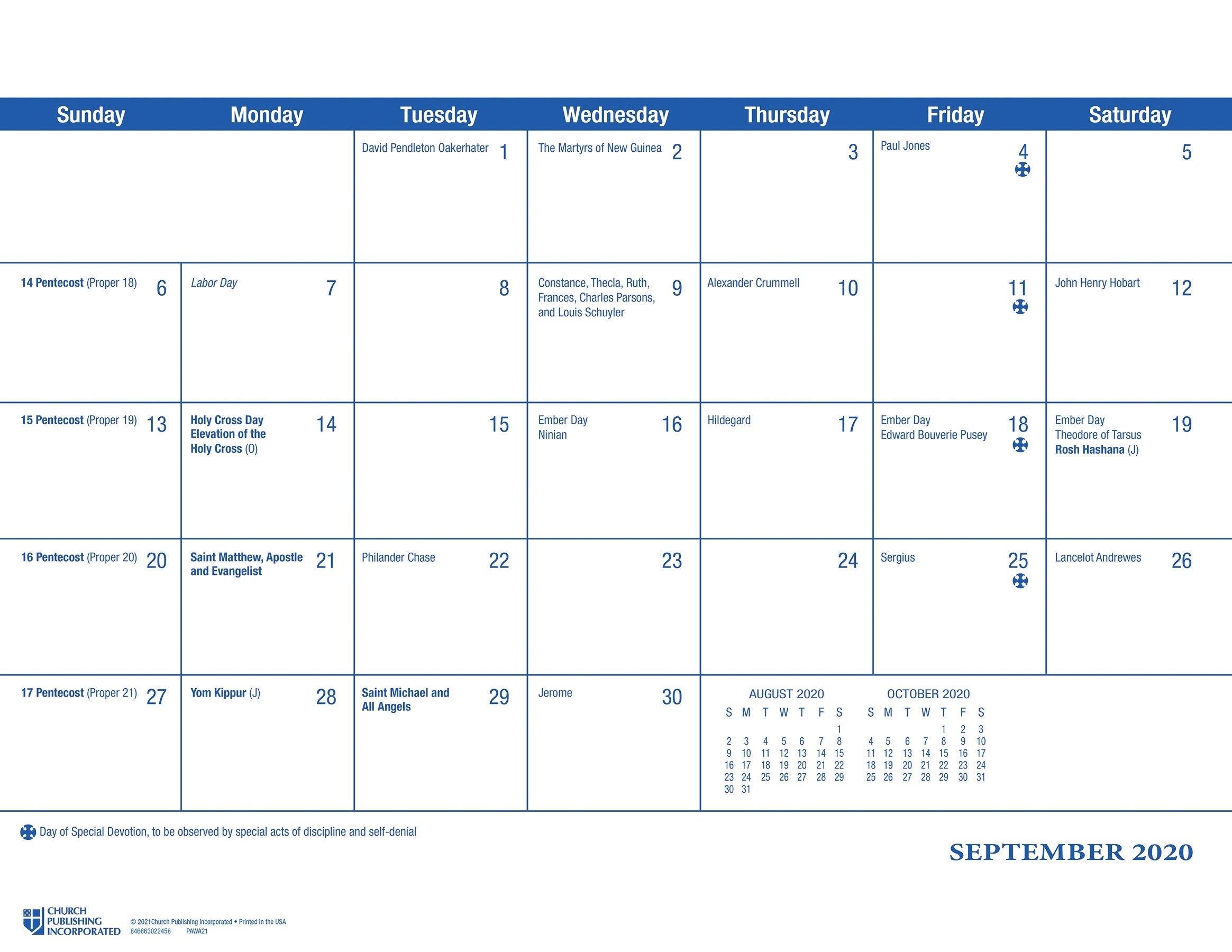 Catholic 2021 Liturgical Calendar | Ten Free Printable ...