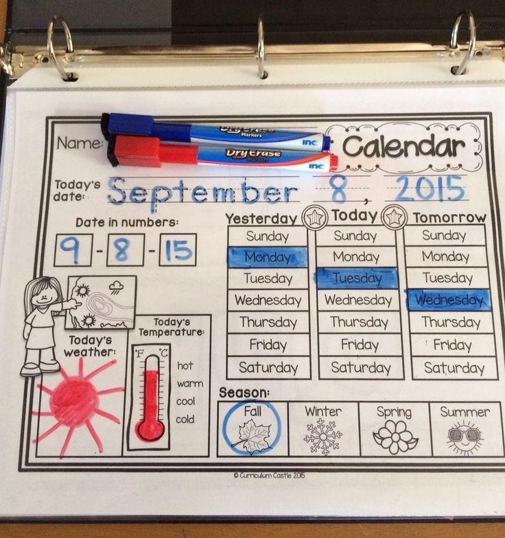Classroom Calendar & Interactive Journal {Rainbow Dots Theme} | Classroom Calendar, Kindergarten