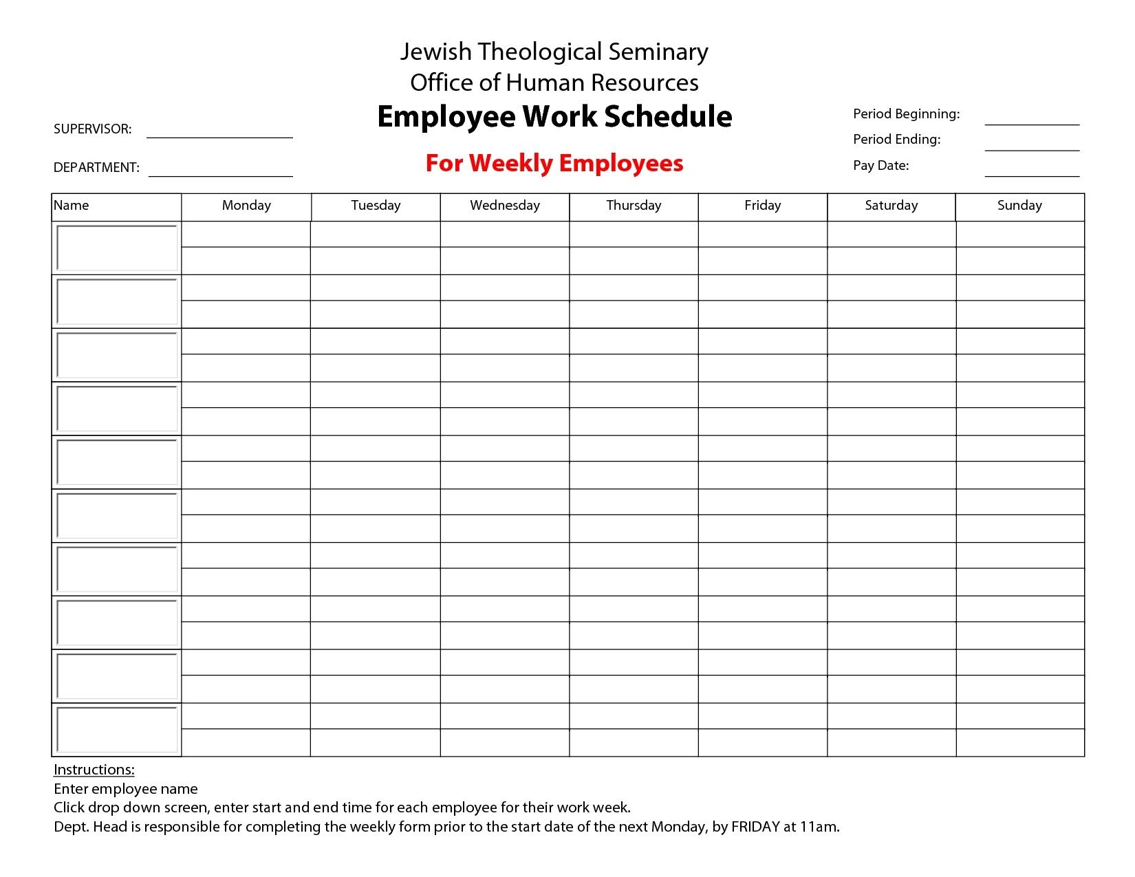 Clean Template Monday To Firday | Calendar Template Printable