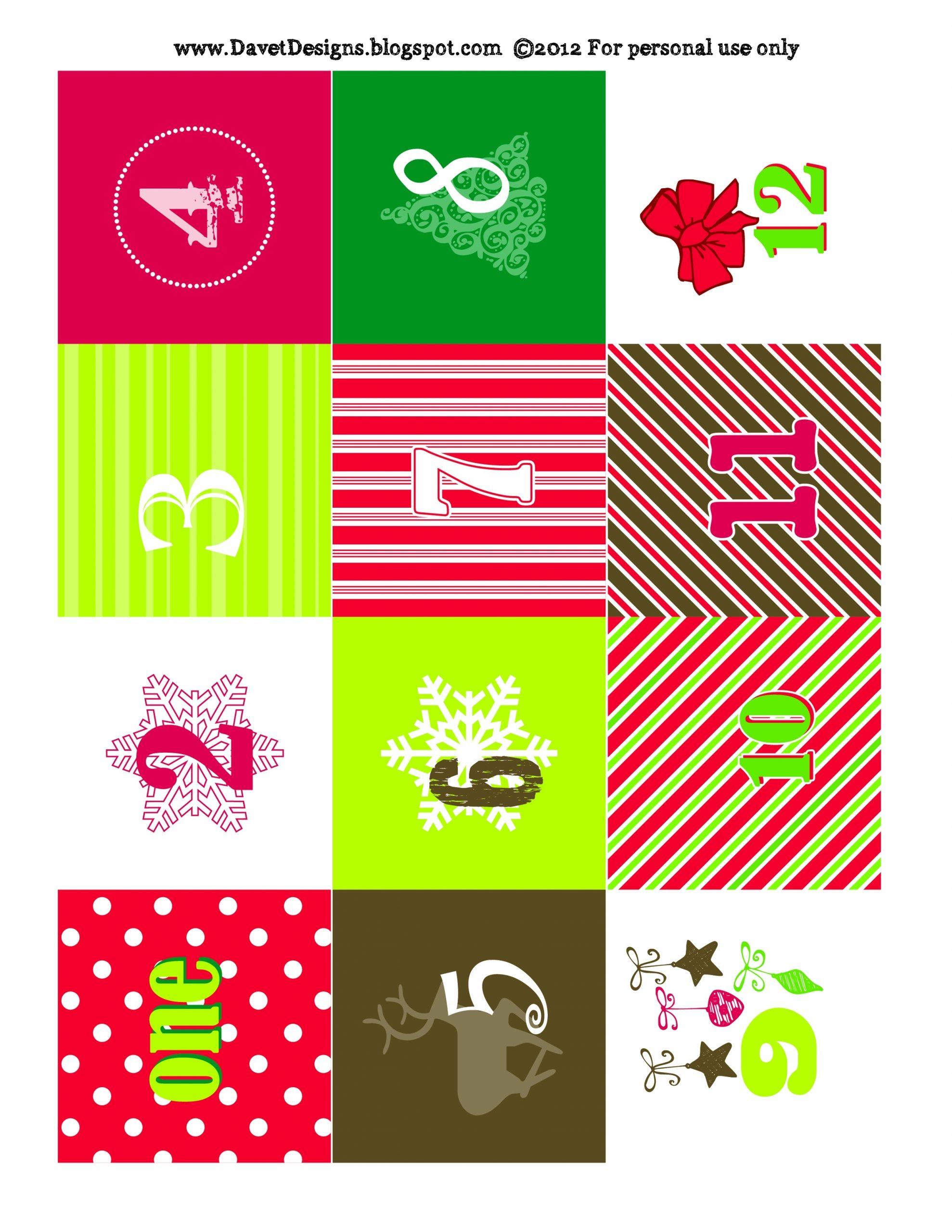 Craft Ideas And More From Davet Designs: Advent Calendar Diy