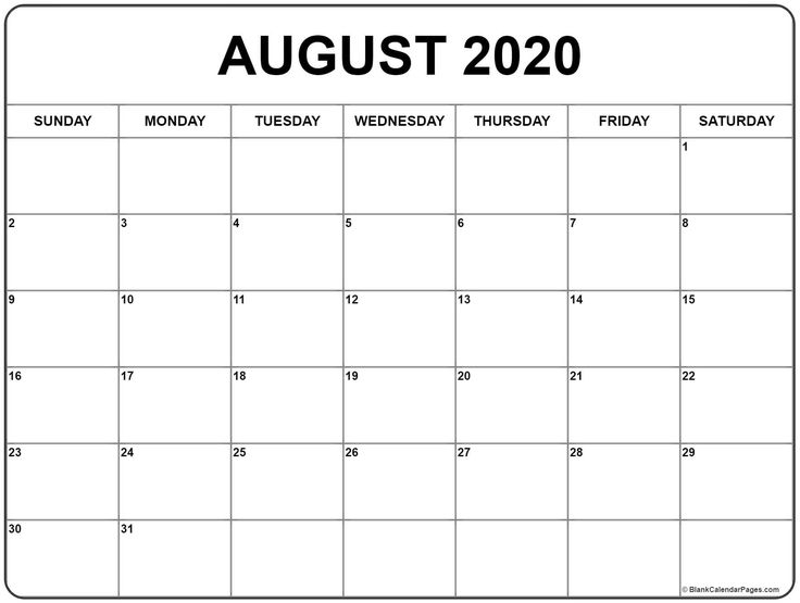 Create Your Blank Lined Calendar To Print In 2020 | Monthly Calendar Printable, August Calendar