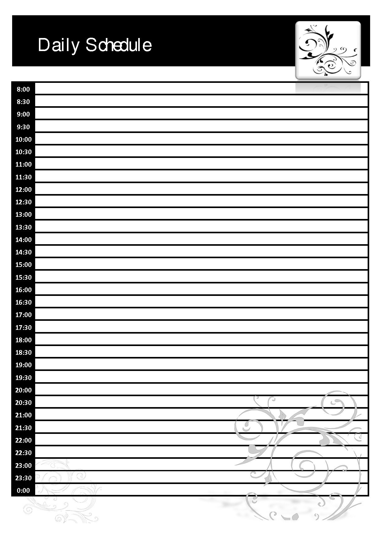 Daily Calendar Template Blank | Daily Calendar Printable 2019
