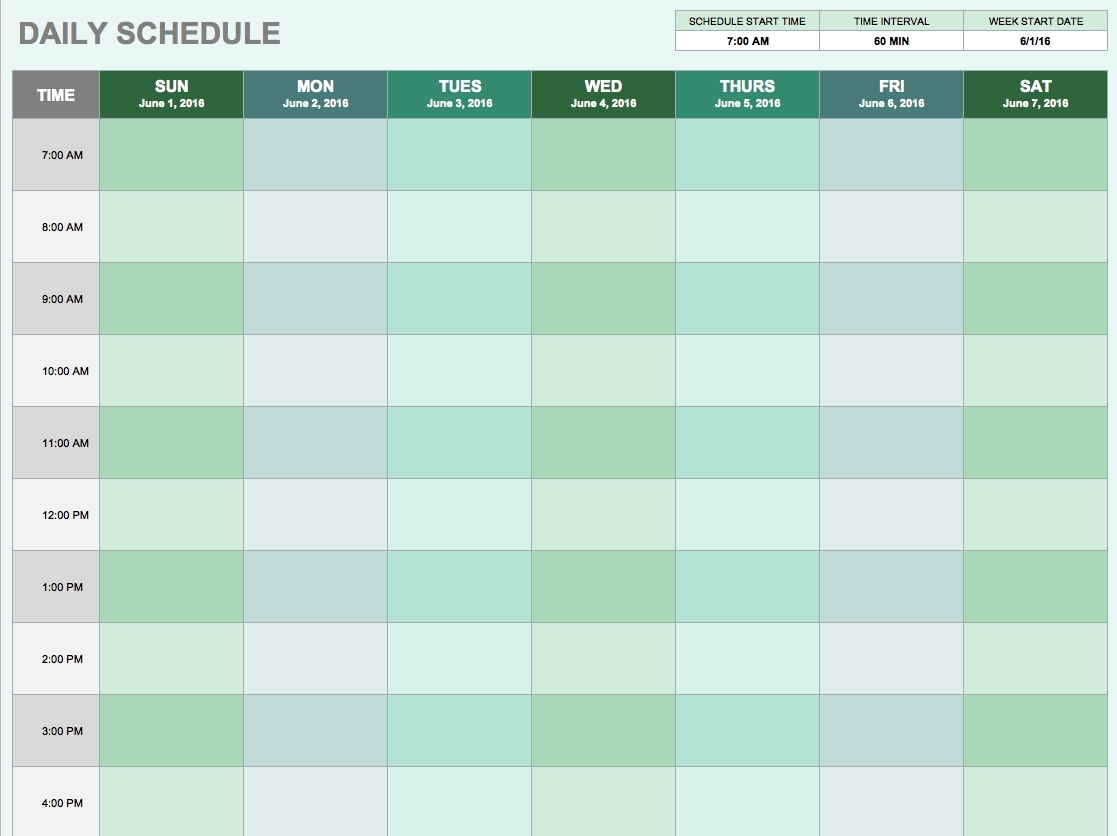 Daily Planner Template Excel - Task List Templates