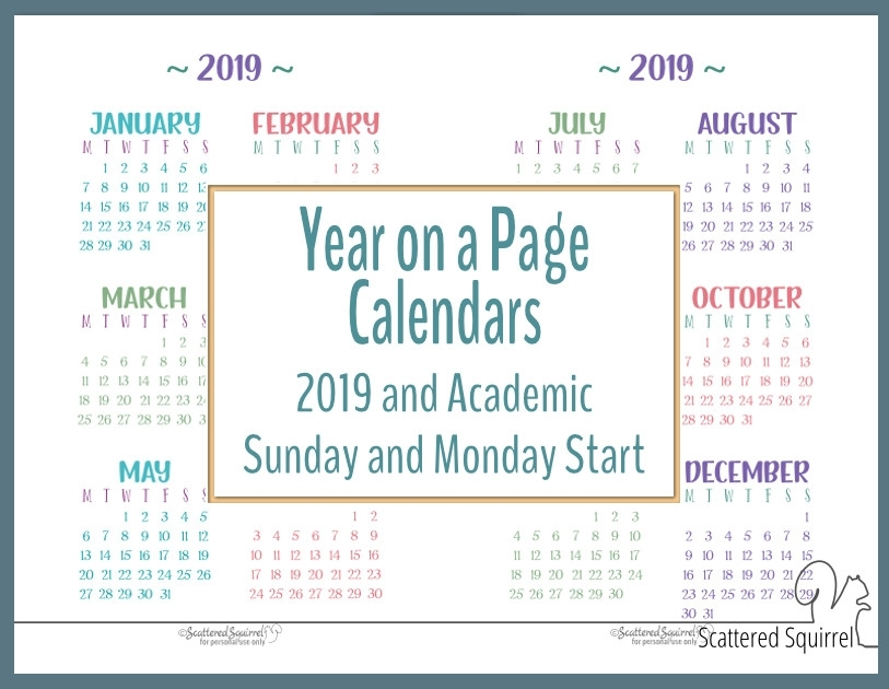 One Year Calendar One Page | Ten Free Printable Calendar ...