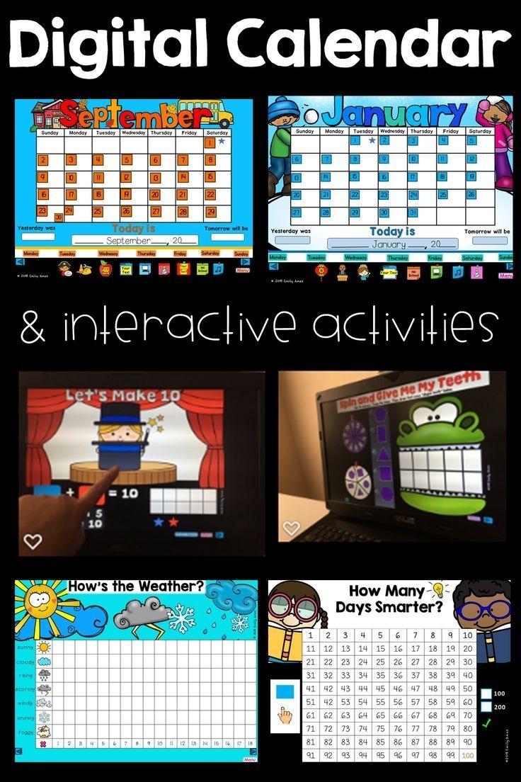 Digital Calendar Powerpoint Presentation (Calendar, Math, And Ela Activities)   Calendar