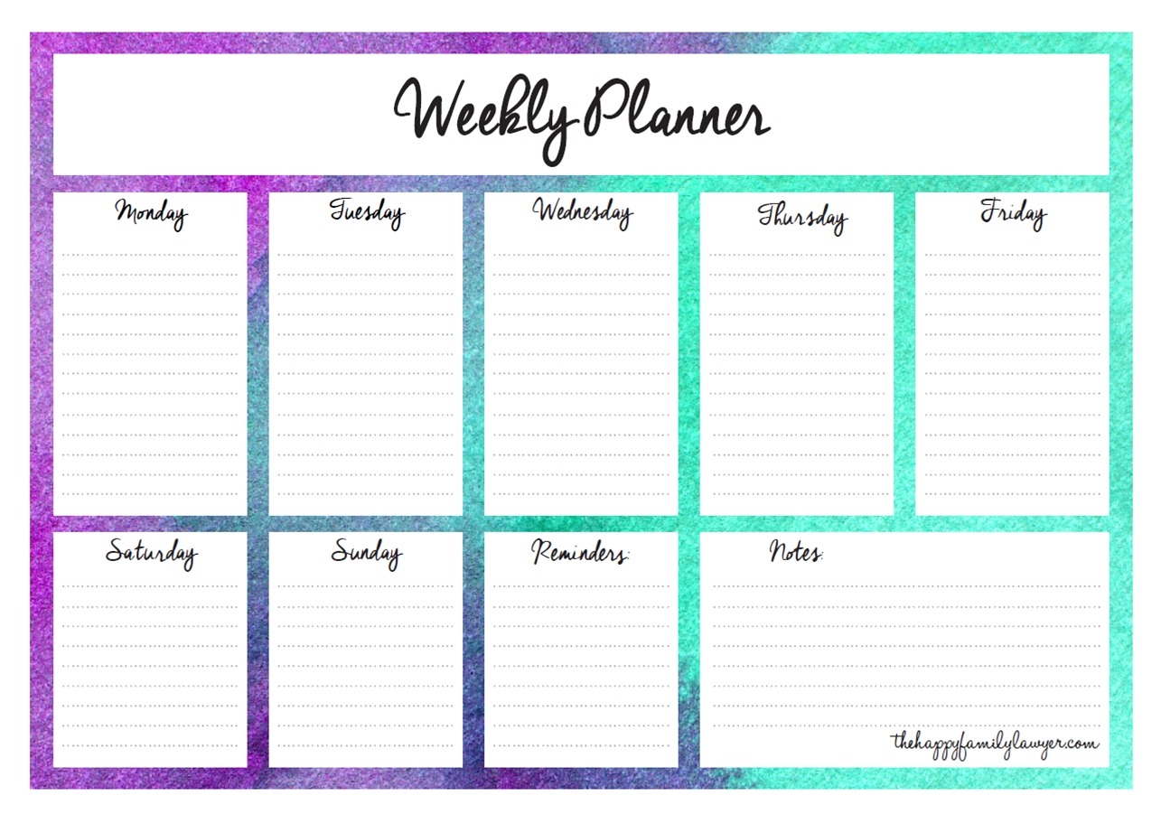 Download Your Free Weekly Planners Now- 5 Designs To Choose From