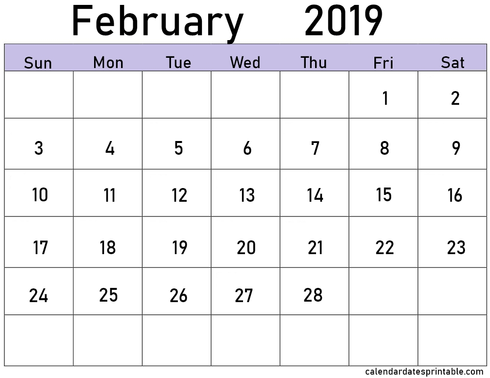 February 2019 Calendar With Holidays Excel With Pdf | Printable Calendar Template, 2019 Calendar