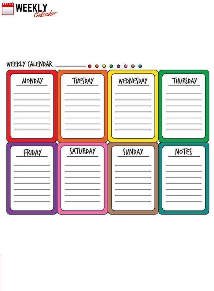Free Blank Printable Weekly Calendar 2019 Template In Pdf, Excel | Weekly Calendar