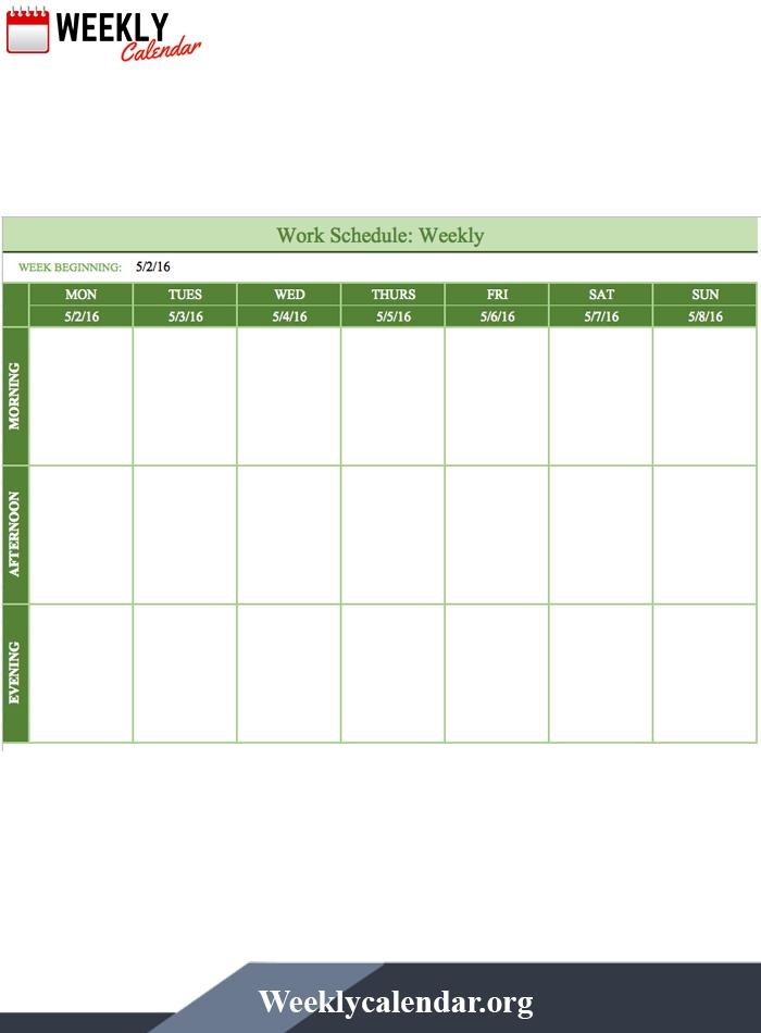 Free Blank Printable Weekly Calendar 2021 Template In Pdf | Weekly Calendar