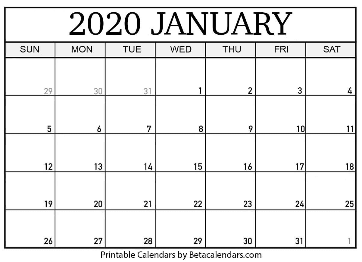 Free Printable 2020 Calendar With Space To Write | Calendar Template Printable Monthly Yearly