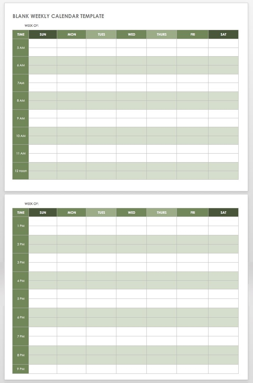 Free Printable 7 Day 15 Minute Appointment Calendar Sheets - Calendar Inspiration Design