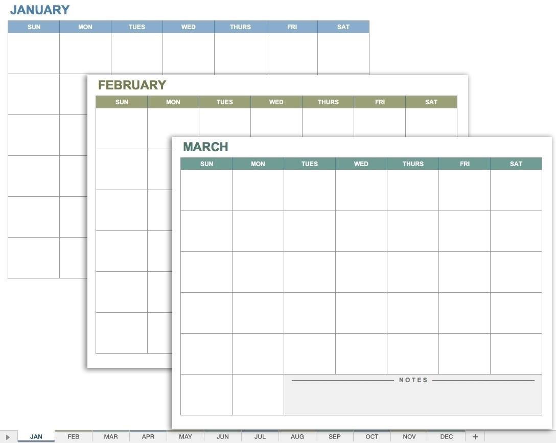 Free Printable Calendar No Dates | Month Calendar Printable