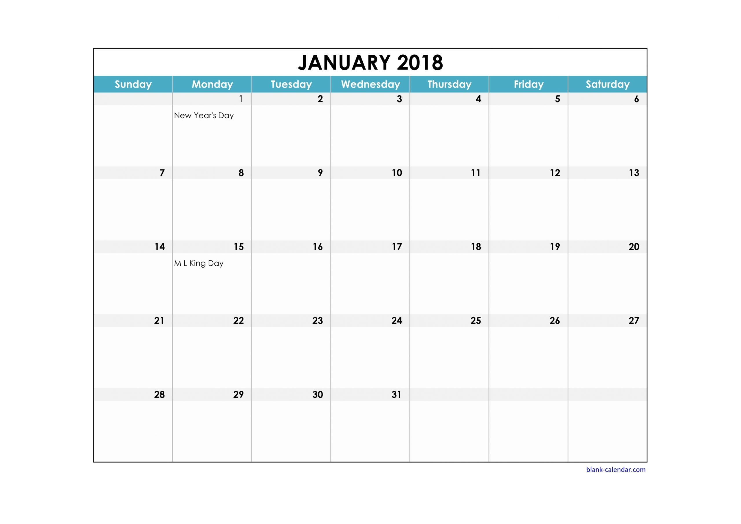 Free Printable Calendar With Large Boxes | Calendar Printables Free Templates