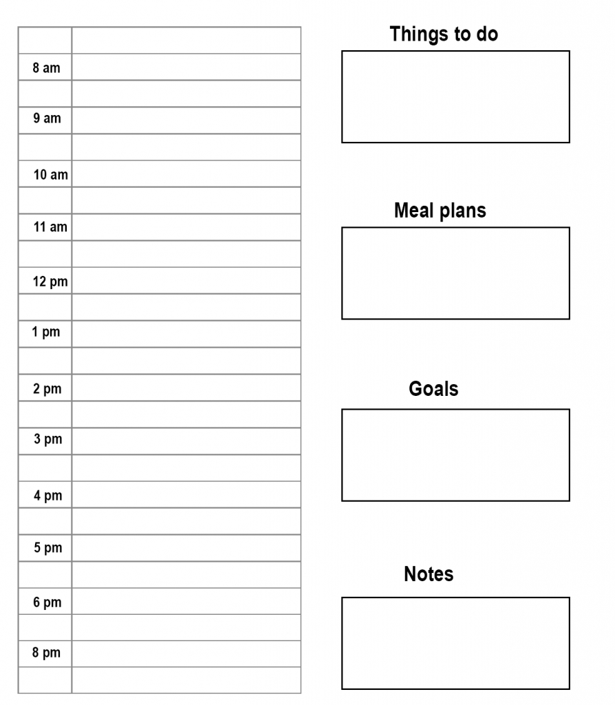 Free Printable Daily Planner Template In Pdf, Word & Excel