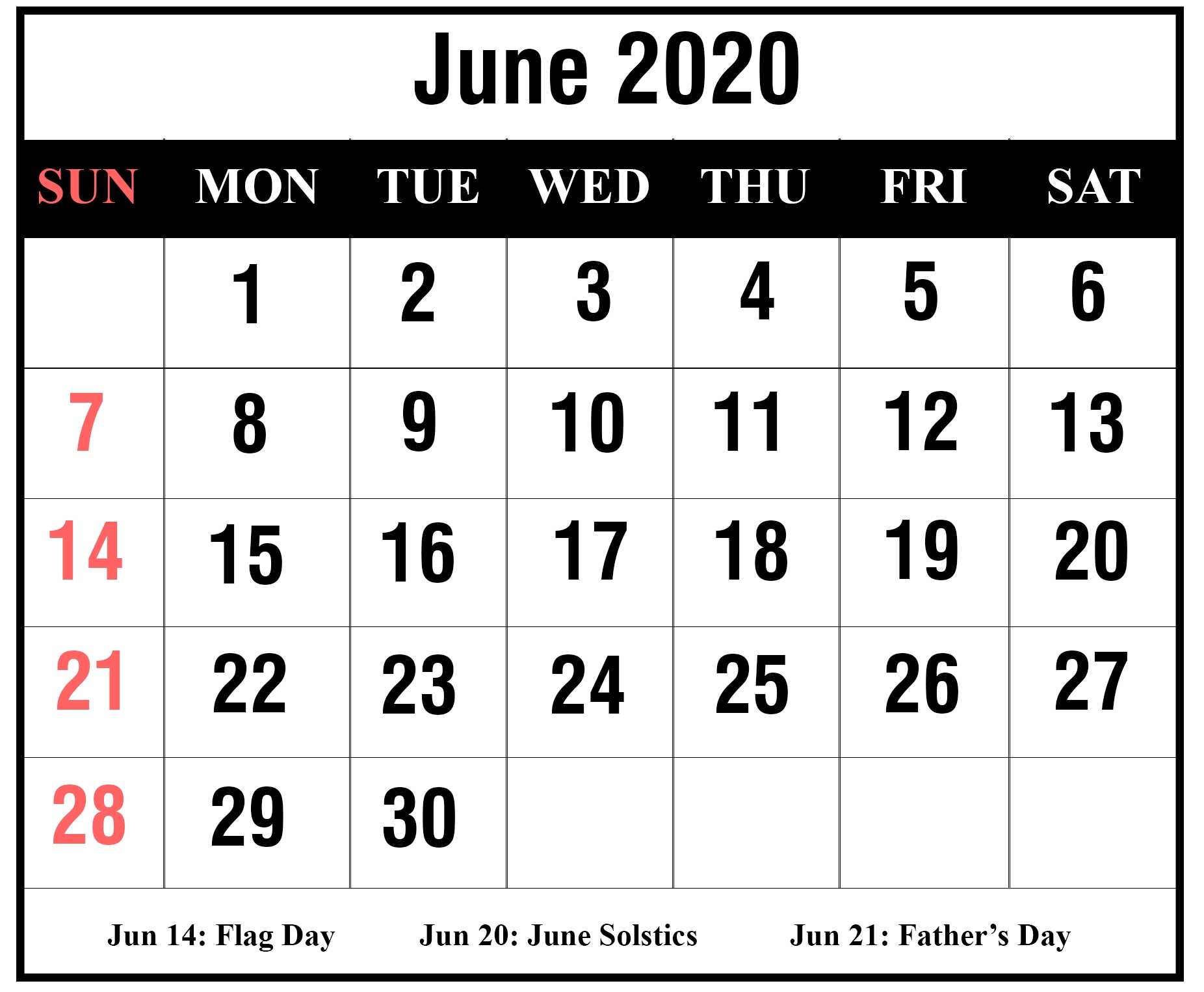 Free Printable Large Numbers Calendar 2020 | Calendar Template Printable Monthly Yearly