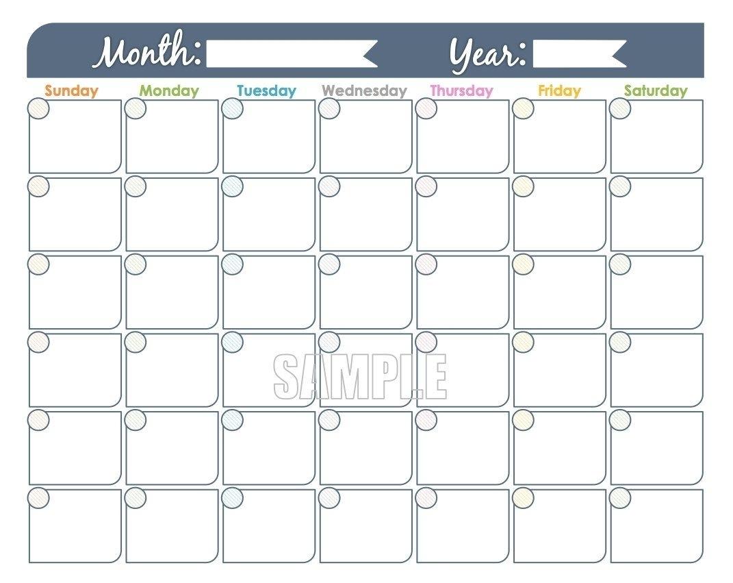 Free Printable Undated Calendar   Ten Free Printable Calendar 2020-2021