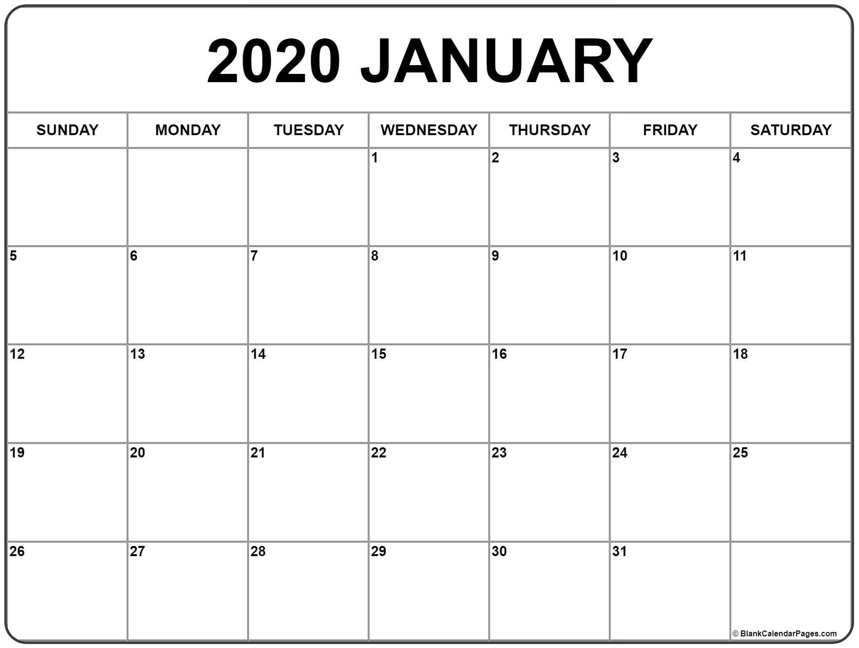 Get 2020 Printable Calendar With Space To Write | Calendar Printables Free Blank