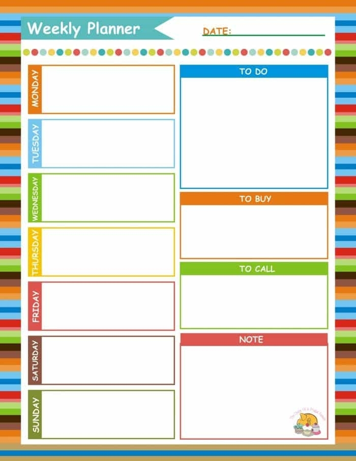 How Just 15 Minutes On A Sunday Can Make The Rest Of Your Week So Much Easier #{Free Printable