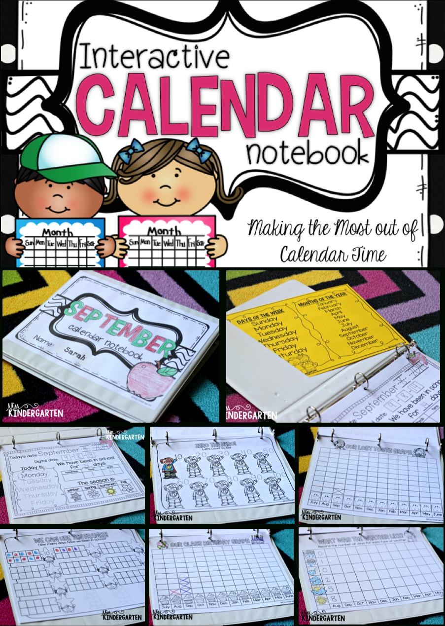 Interactive Calendar Notebook {Making The Most Out Of Calendar Time} | Calendar Notebook