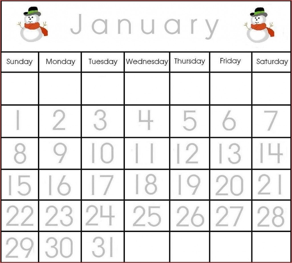 Large Printable Calendar Numbers 1-31 - Calendar Inspiration Design