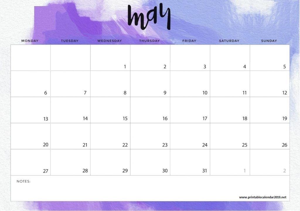 May 2019 Calendar In Pdf Word Excel Printable Template | Desk Calendar Template, Monthly Desk