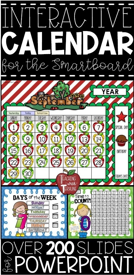 Morning Meeting Calendar Math Lessons For The Smartboard {In Powerpoint}   Math Lessons