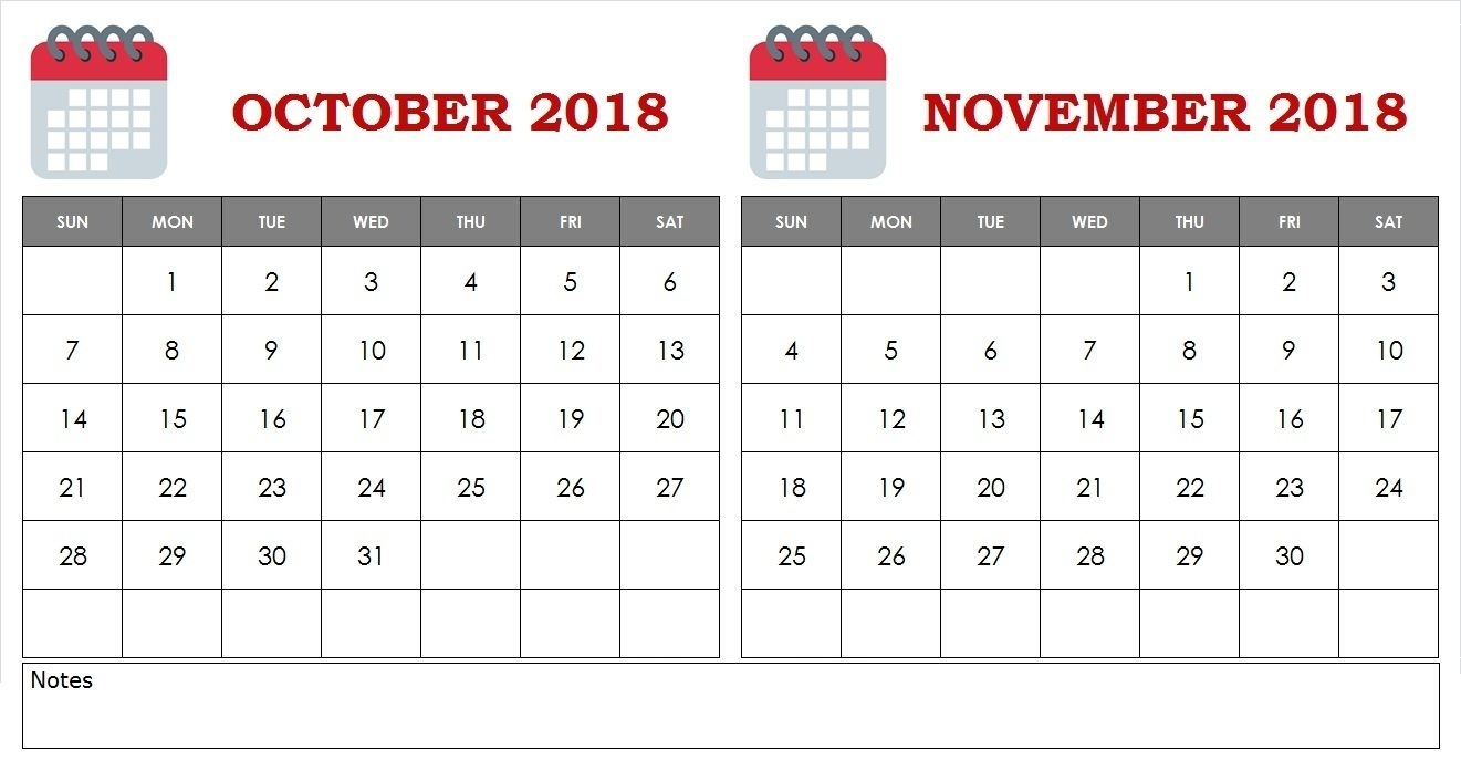 October Calendar 2019 Printable Notes And To Do List | October Calendar, Calendar 2019 Printable