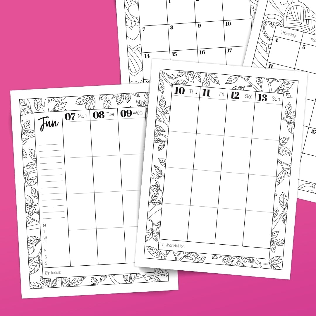 (Pre-Order Special) 2021 Coloring Planner: Digital & Printable Combo - Sarah Renae Clark