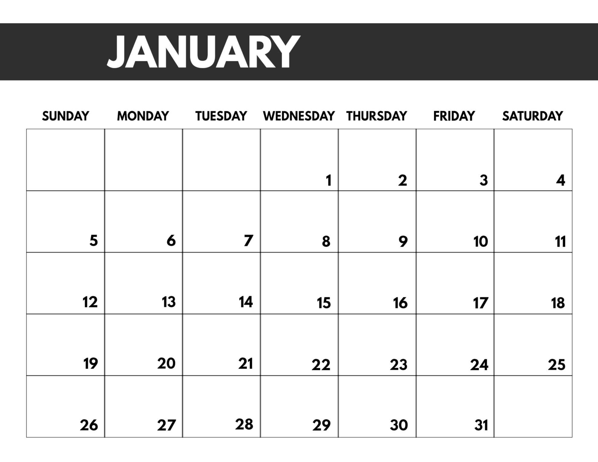 Printable Calendar For 2020 With Large Numbers | Calendar Template Printable Monthly Yearly