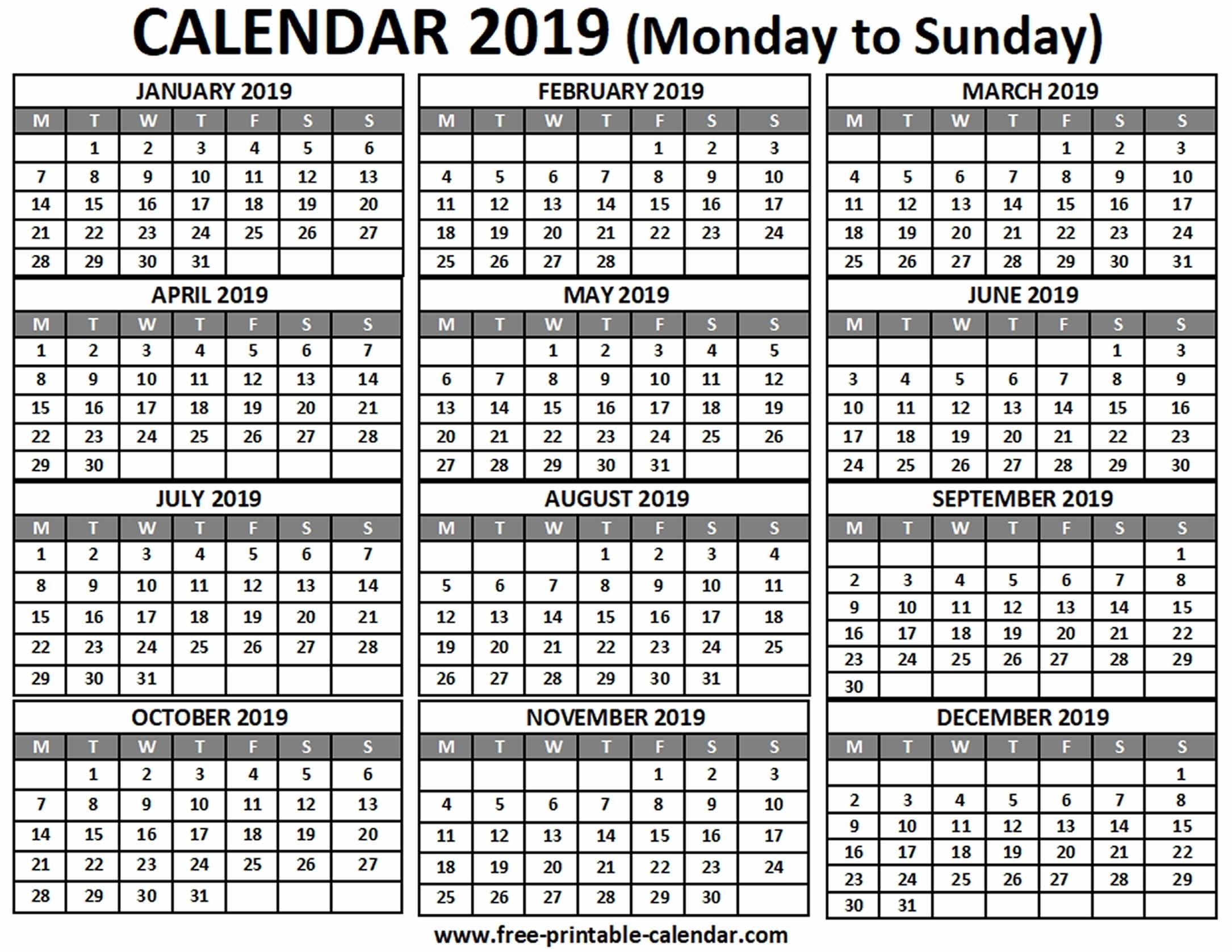 Printable Calendar Monday To Sunday   Ten Free Printable Calendar 2020-2021