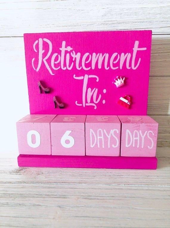 Retirement Days Until Block Countdown Calendar Bling Style! | Countdown Calendar, Online Gifts