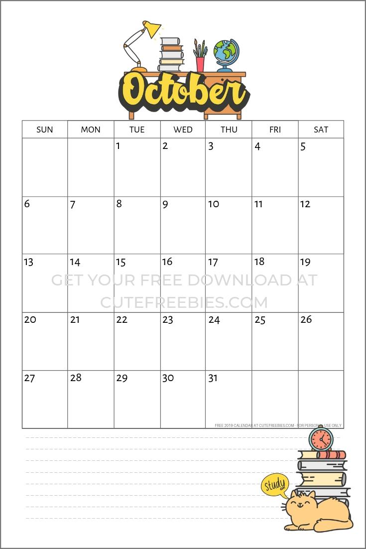 School Calendar Printable For 2020 - 2021 | Monthly Planner Printable, School Calendar, Monthly
