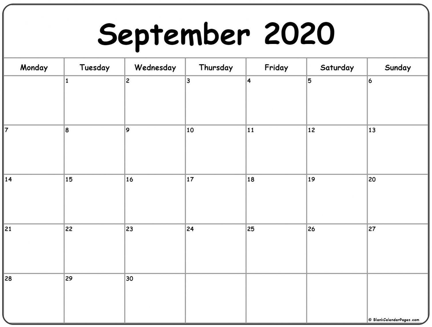 September 2020 Calendar | October Calendar, Calendar Printables, Calendar