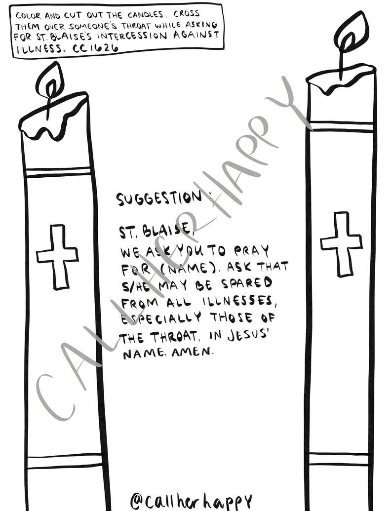 St Blaise Coloring Page Sheet Liturgical Year Catholic | Etsy