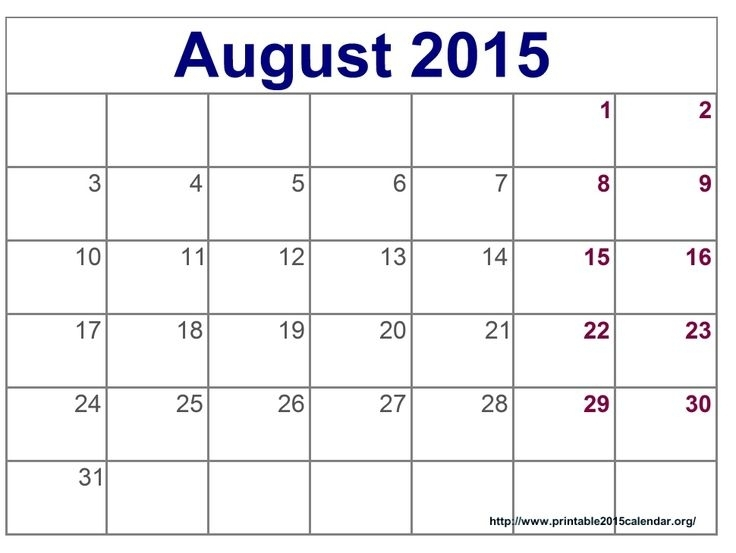 Time And Date August 2015 Calendar Full Templates For You - Download To Day August 2015 Calendar