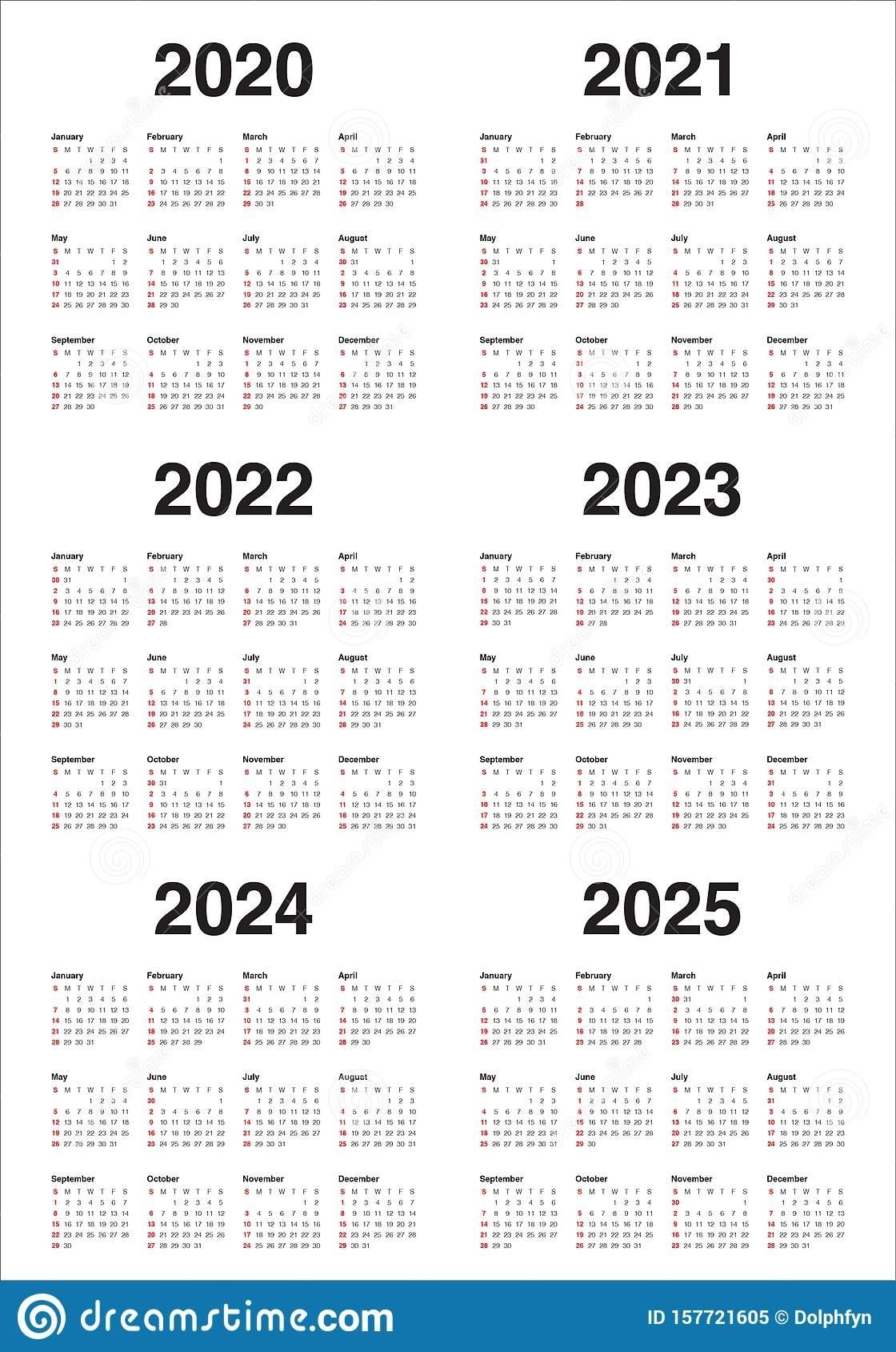 Printable 3 Year Calendars 2021 2022 2023 | Ten Free ...