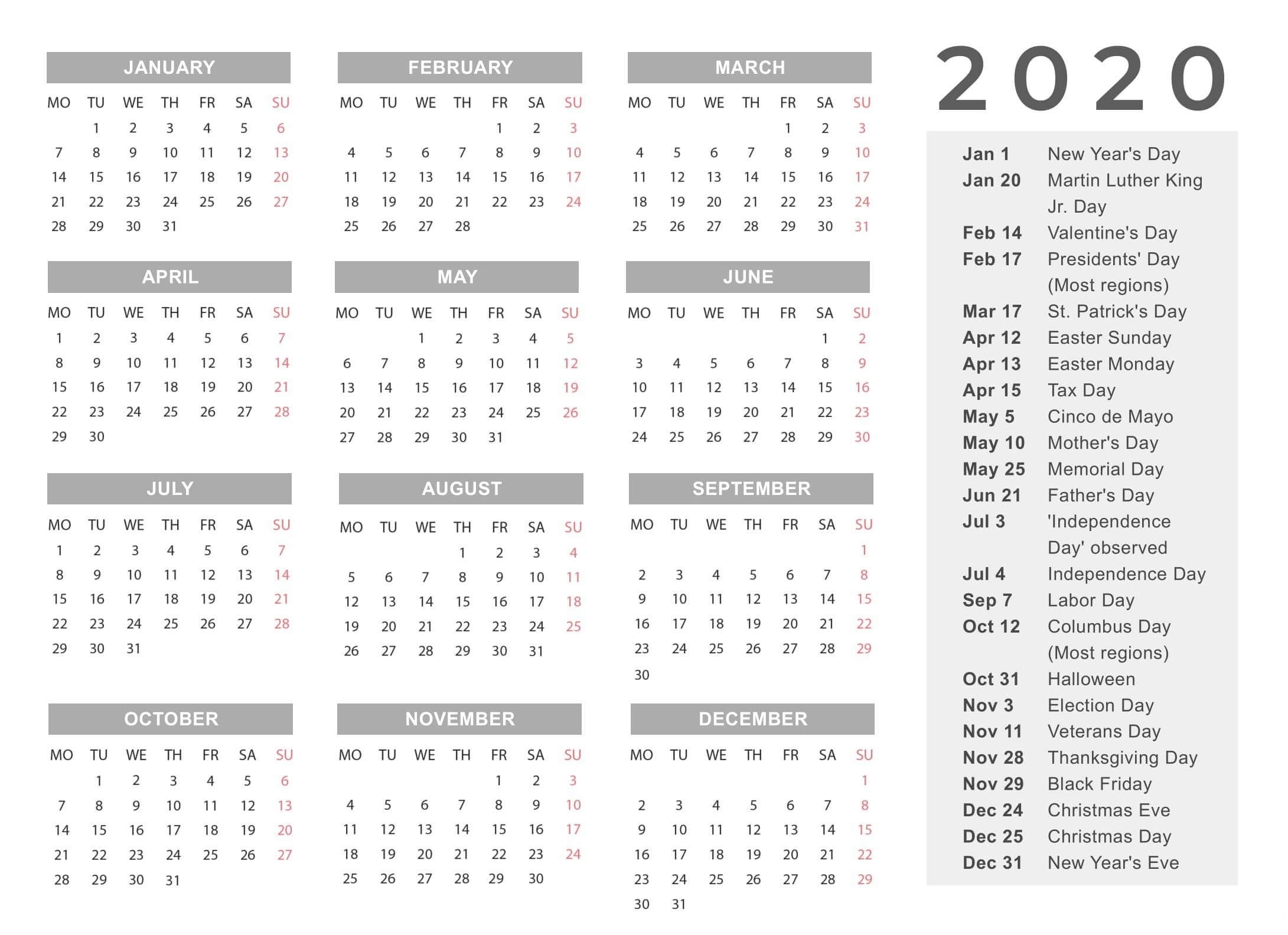 Year Calendar With Notes | Calendar Printables Free Templates