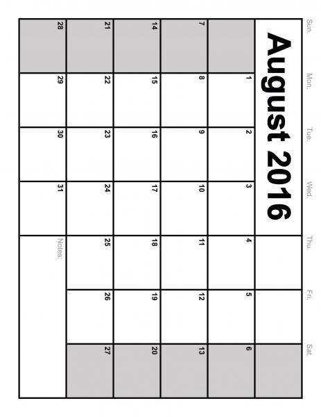 11 X 14 Printable Calendar | Printable Calendar Template 2021
