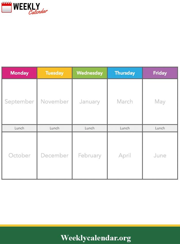 2019 Blank Weekly Calendar Printable In Pdf, Word & Excel | Weekly Schedule Template