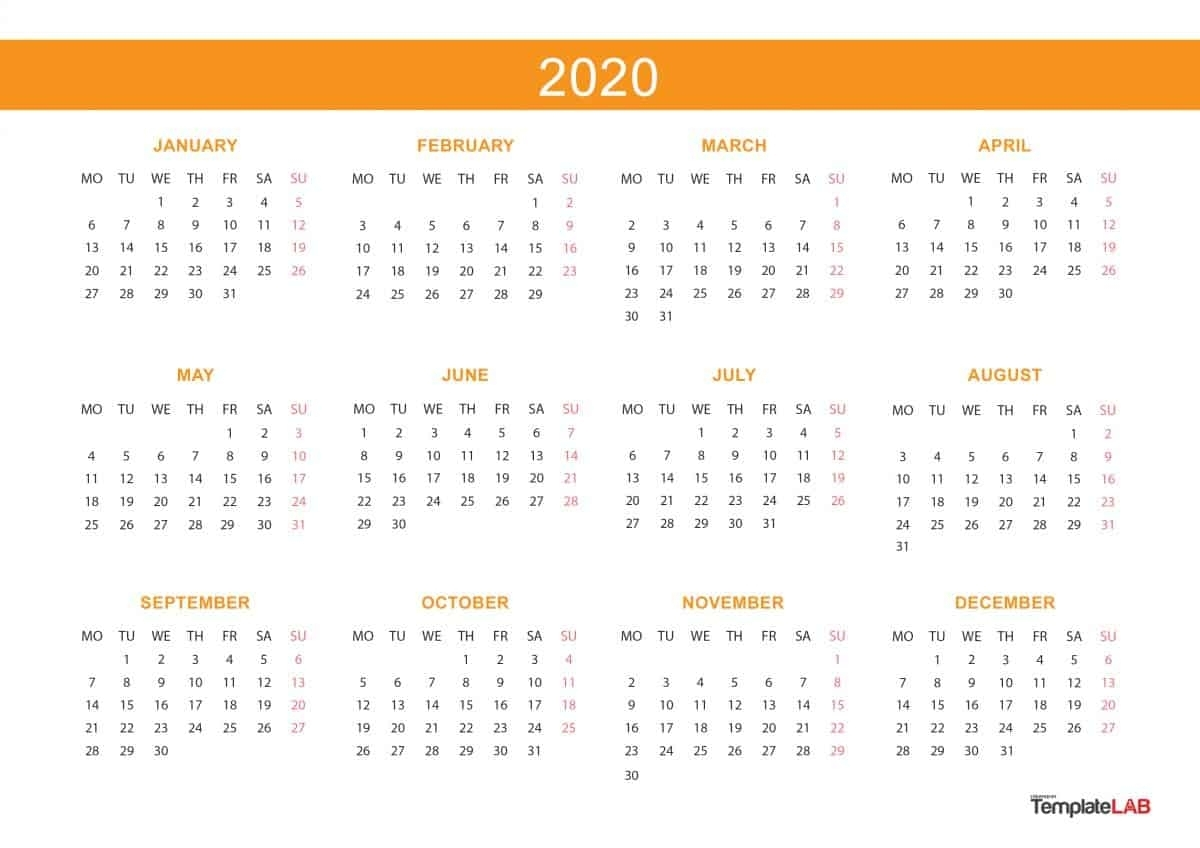 2020 Calendar Printable Legal Size   Example Calendar Printable