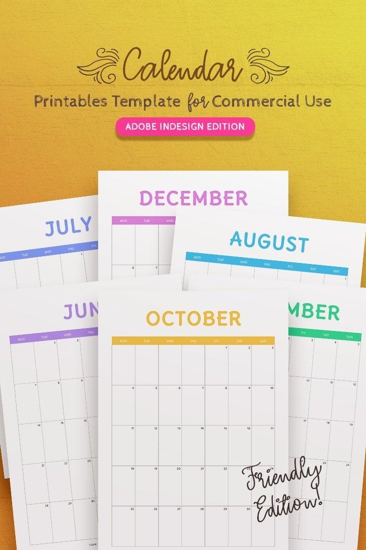 2021-2023 Calendar Indesign Template For Commercial Use (331592) | Magazines | Design Bundles